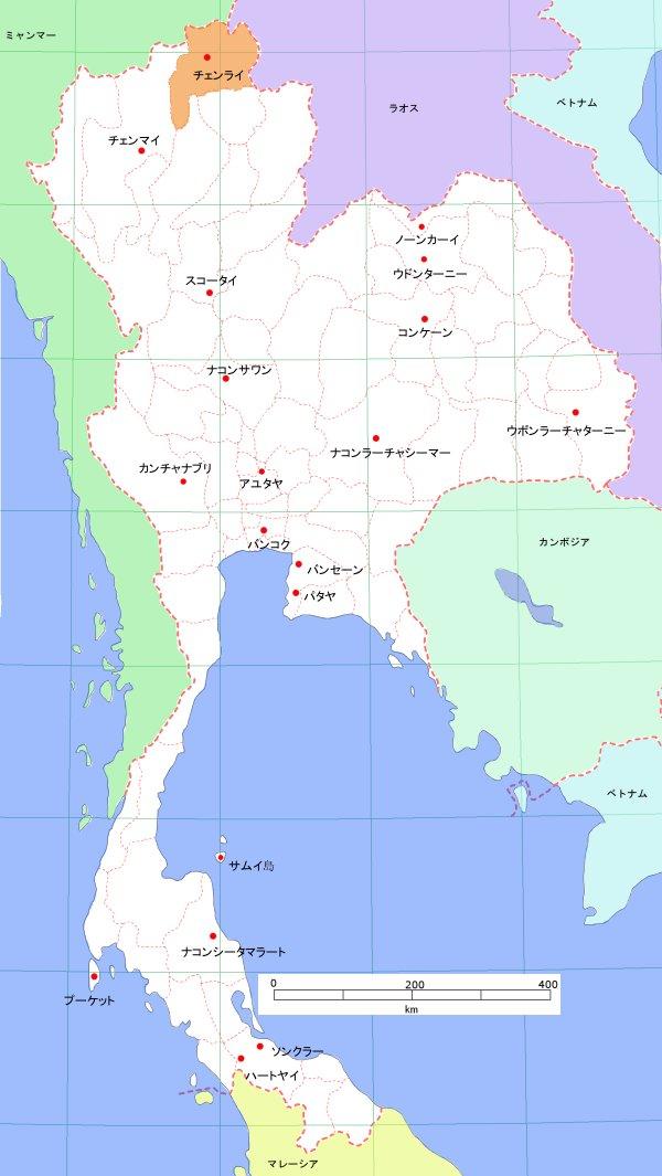 タイの地図 -チェンライ